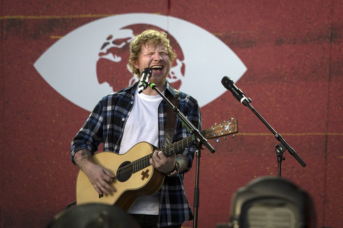 Ed Sheeran performs on the stage. — REUTERS