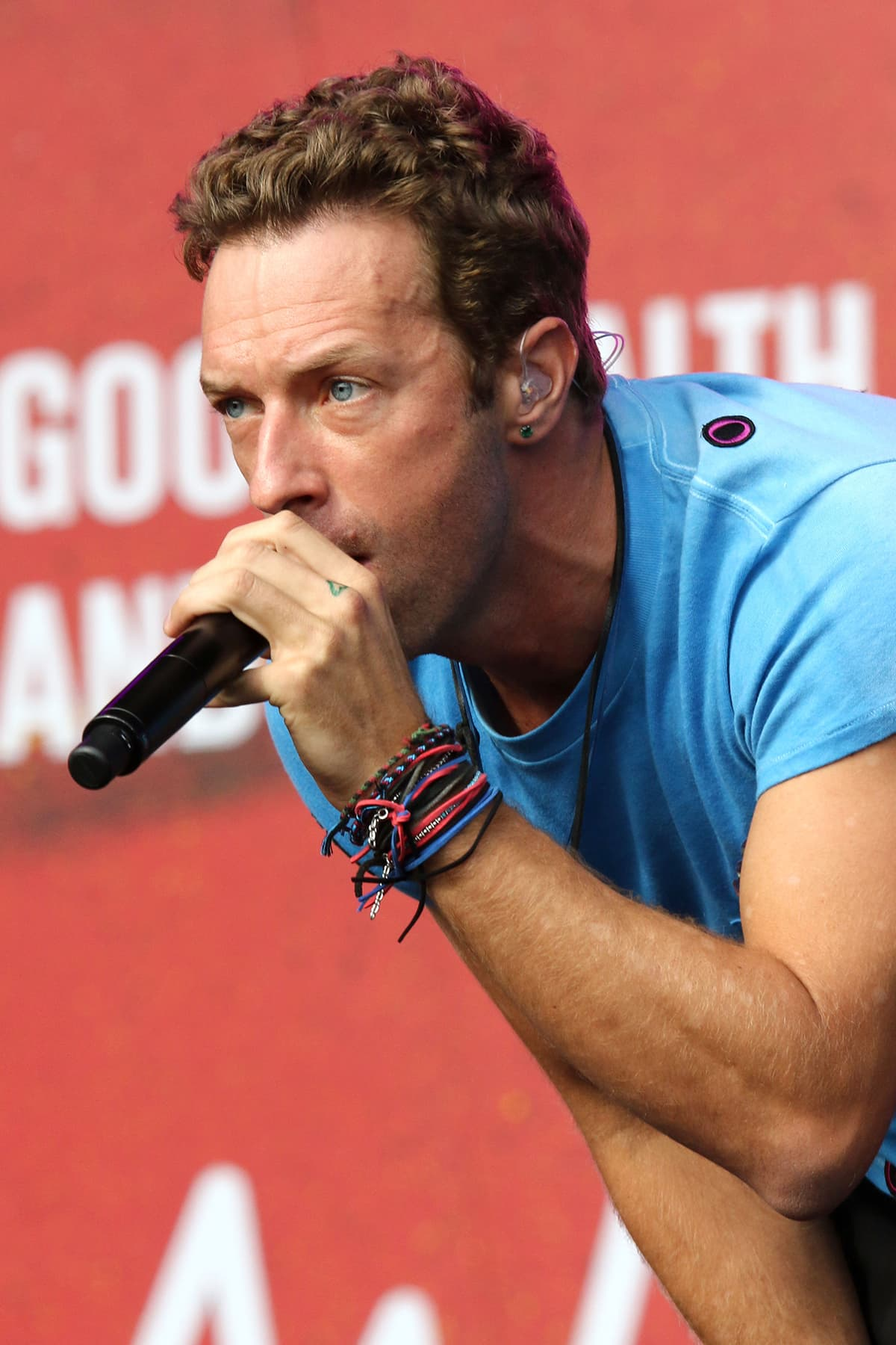 Chris Martin of Coldplay sings at the Global Citizen Festival. — AP