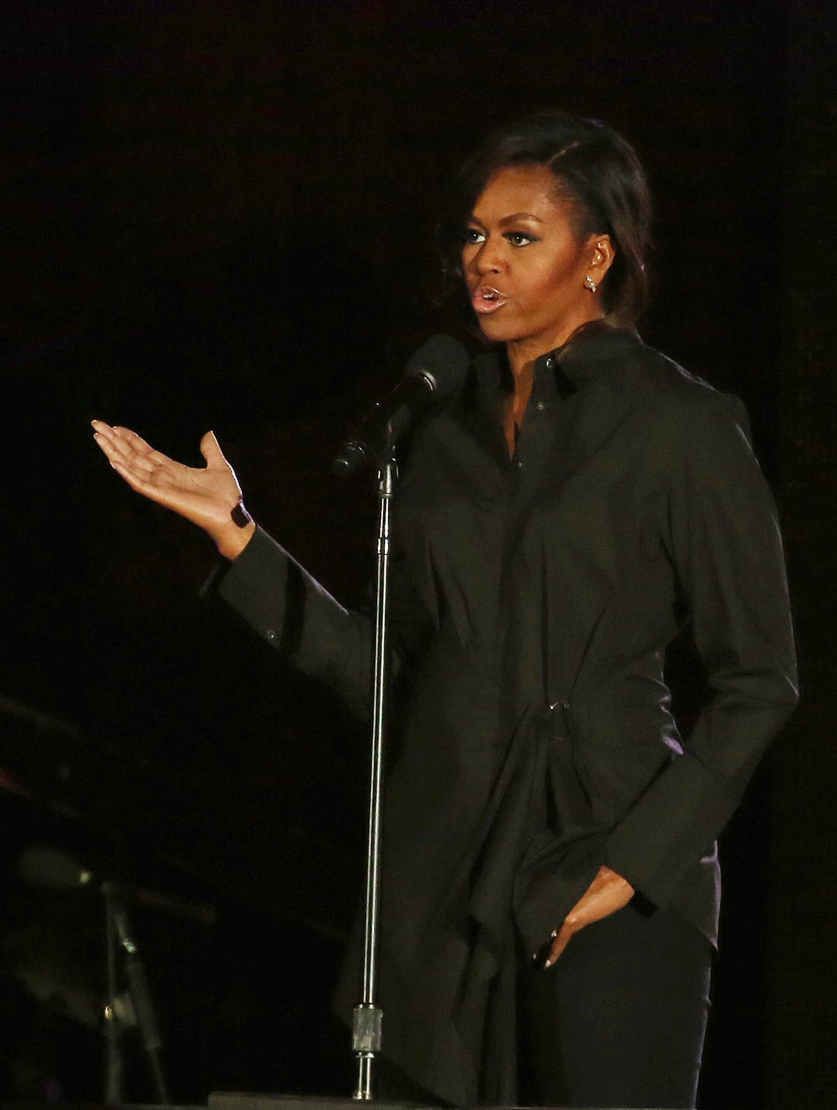 US First Lady Michelle Obama speaks at the fourth annual Global Citizen Festival in Central Park Manhattan. — AFP