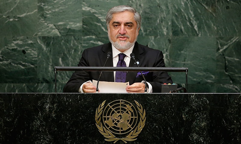 Chief Executive Officer of Afghanistan Abdullah Abdullah speaks during the 70th session of the United Nations General Assembly at UN headquarters Monday, Sept. 28- AP