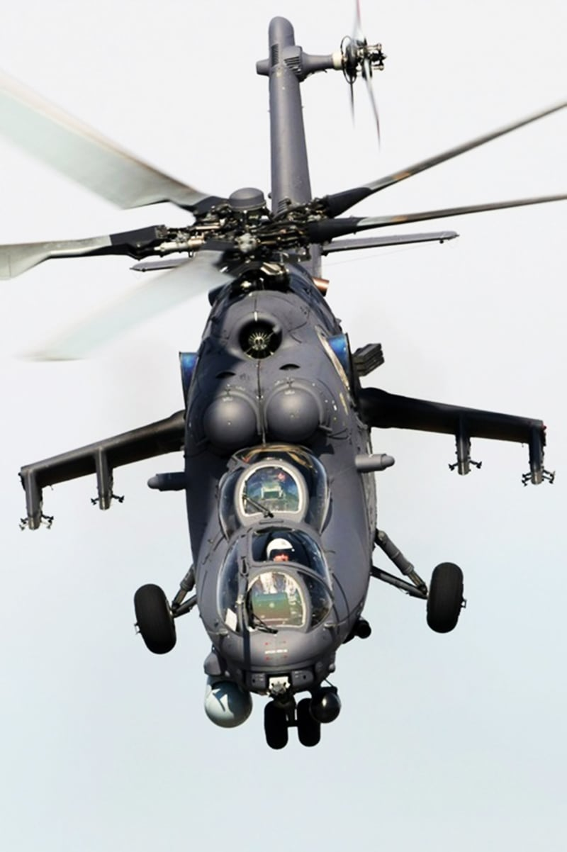 Mi-35 Hind Attack helicopter of the Indian Air Force. Upgraded ...