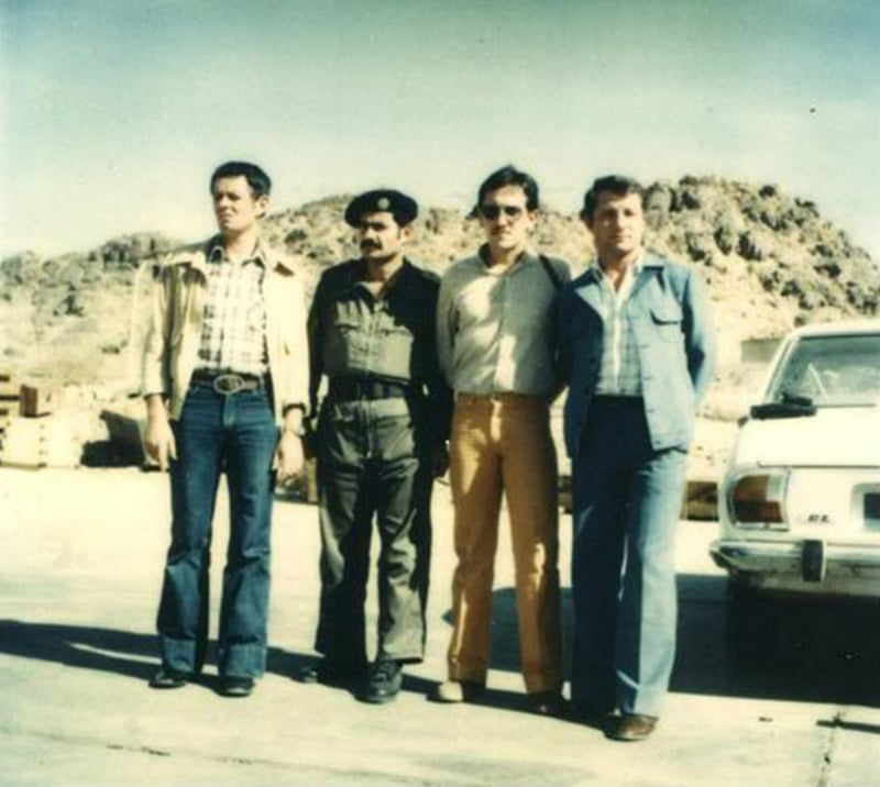 French military experts with a Saudi commander during the siege.
