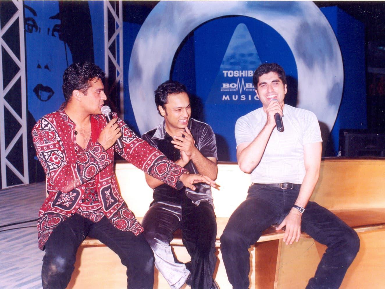 Having some fun with the boys, Fakhr-e-Alam and Najam Sheraz