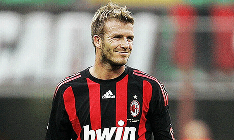 Beckham during his AC Milan days. — AP/File