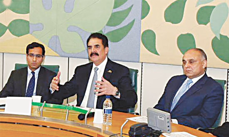 LONDON: Chief of Army Staff General Raheel Sharif speaks during interactions at the IISS and House of Commons on Thursday.—INP