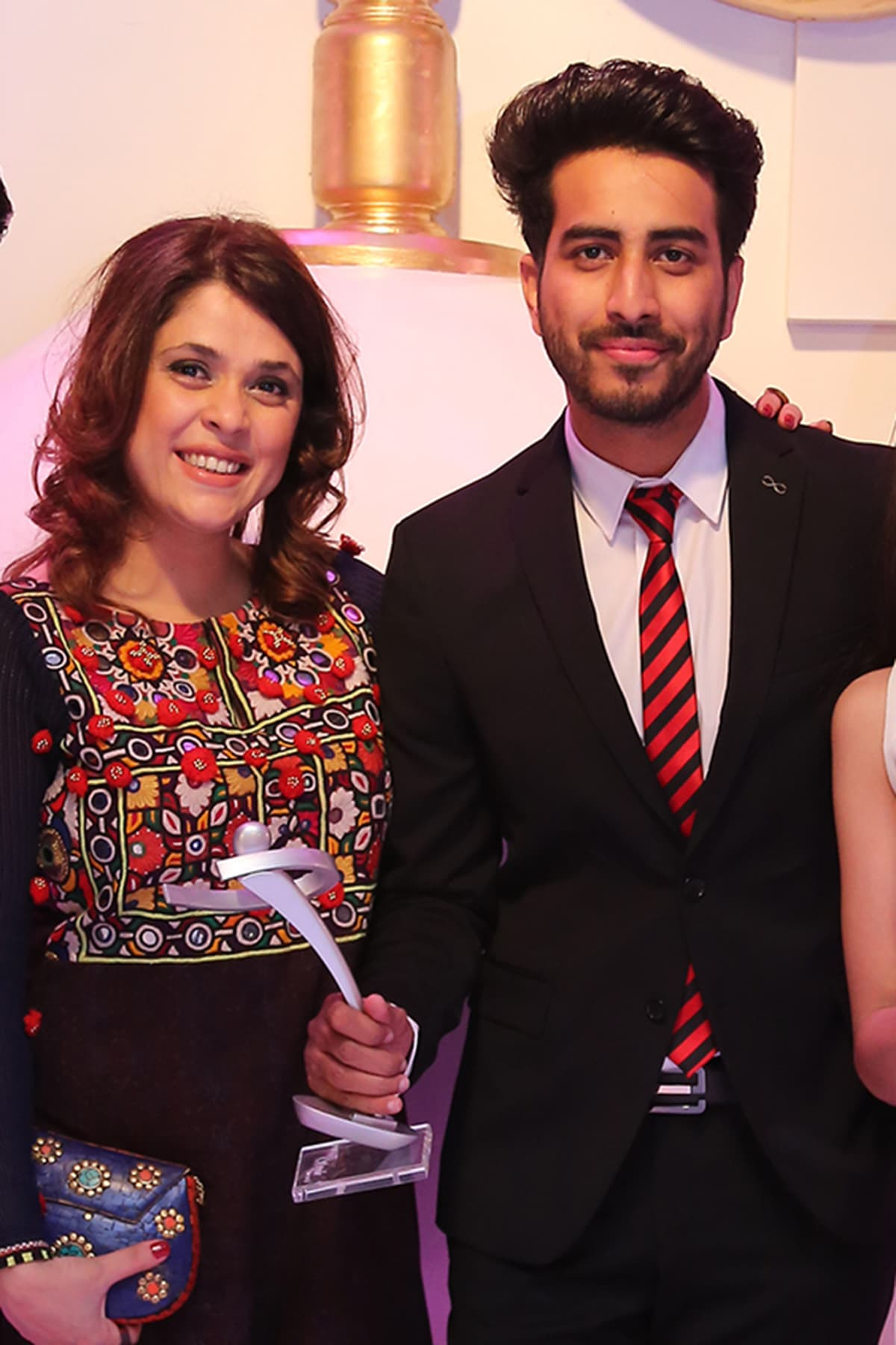 Nabeel Qureshi with Na Maloom Afraad producer Fiza Ali Meerza