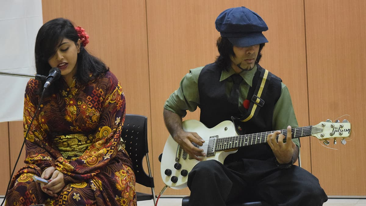Shahzeen and Osama perform upbeat Japanese tracks. — Photo bu author