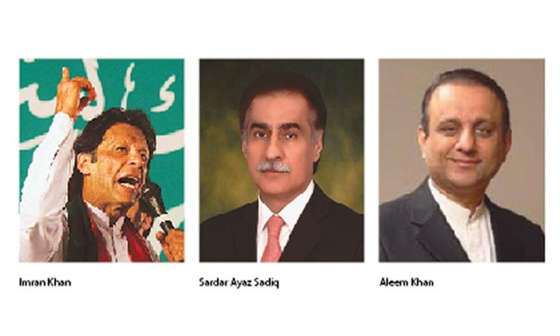 Imran Khan / Sardar Ayaz Sadiq / Aleem Khan