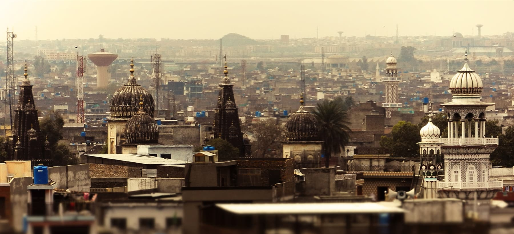 Bagh Sardaran Mandir as seen from Sujan Singh Haveli. —Muhammad Bin Naveed