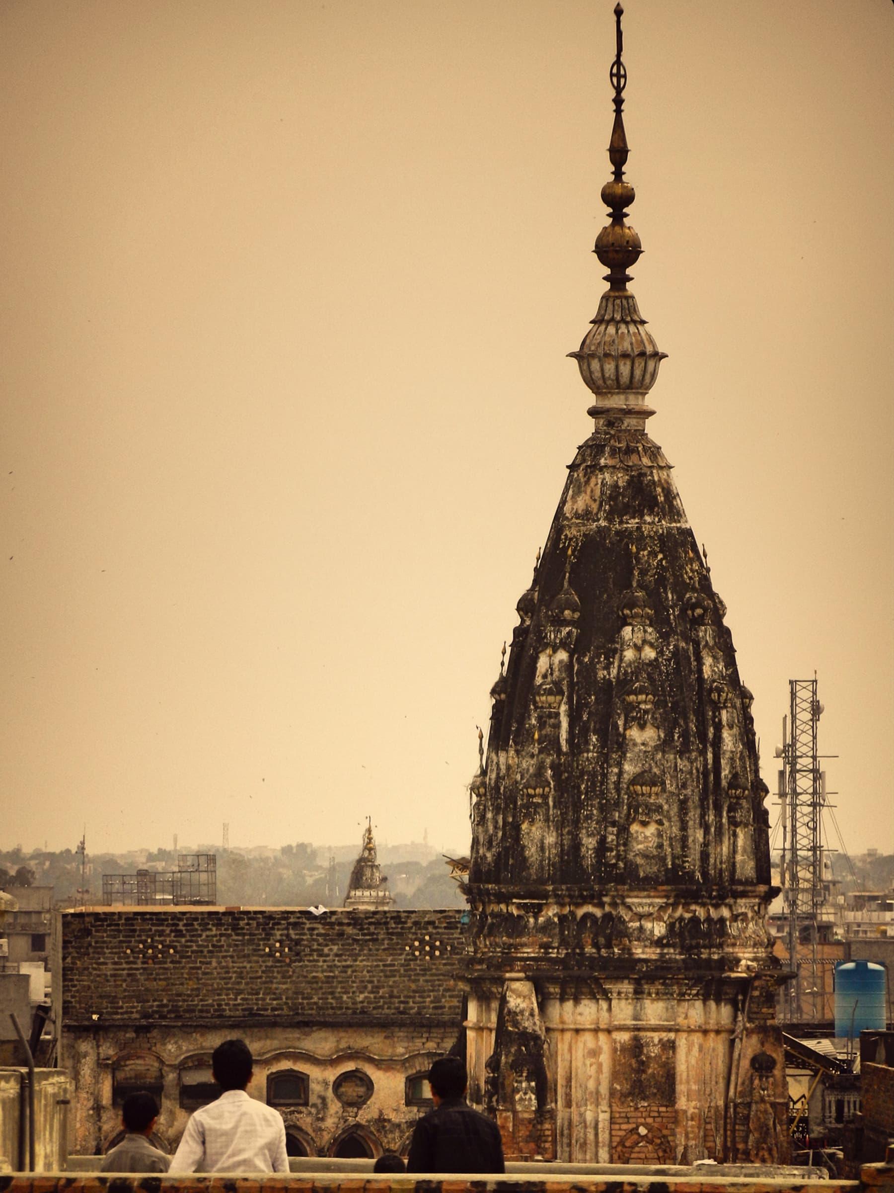 Mandir spire in Bhabra bazaar visible from Sujan Singh Haveli.—Muhammad Bin Naveed