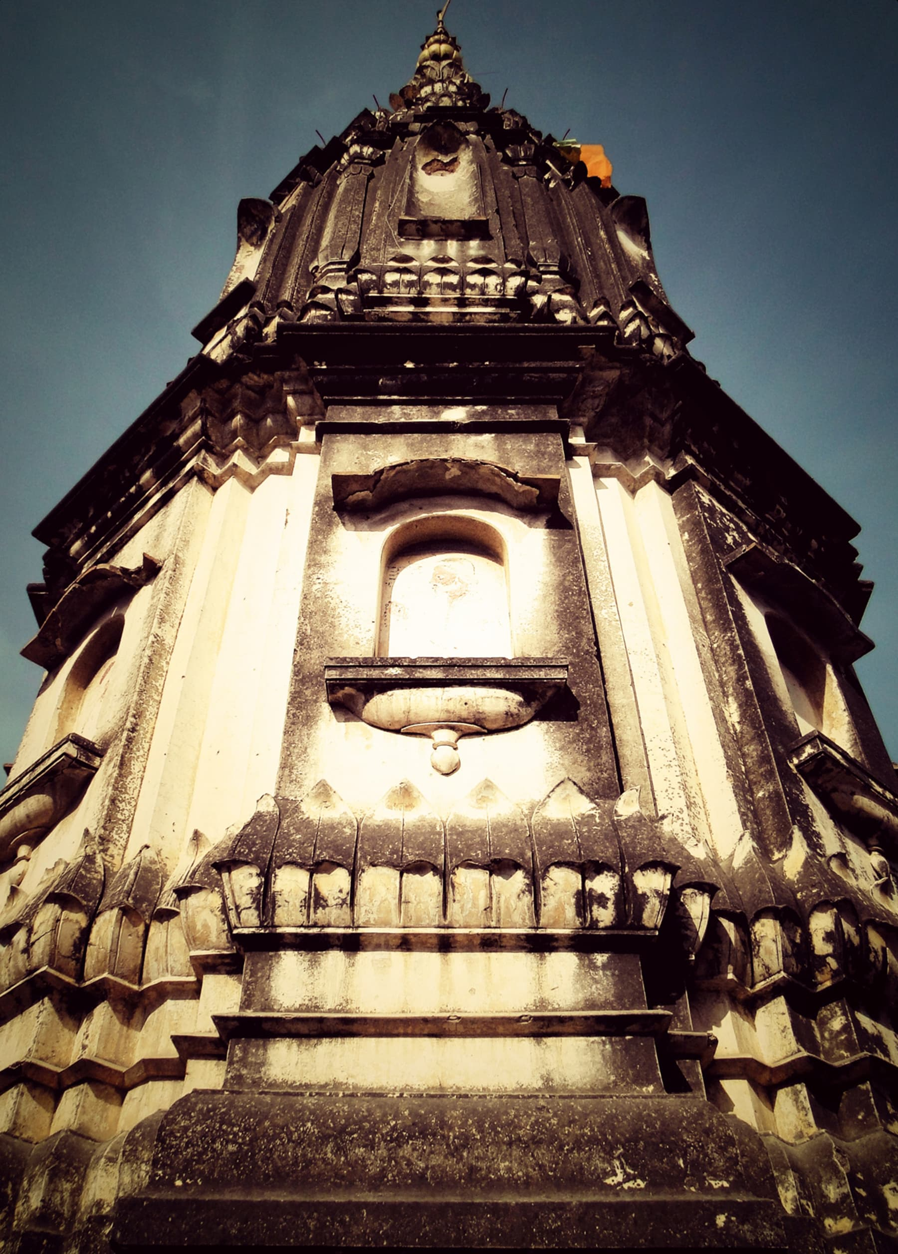 A worm's eye view of a mandir in Old Rawalpindi. —Sultan Ali