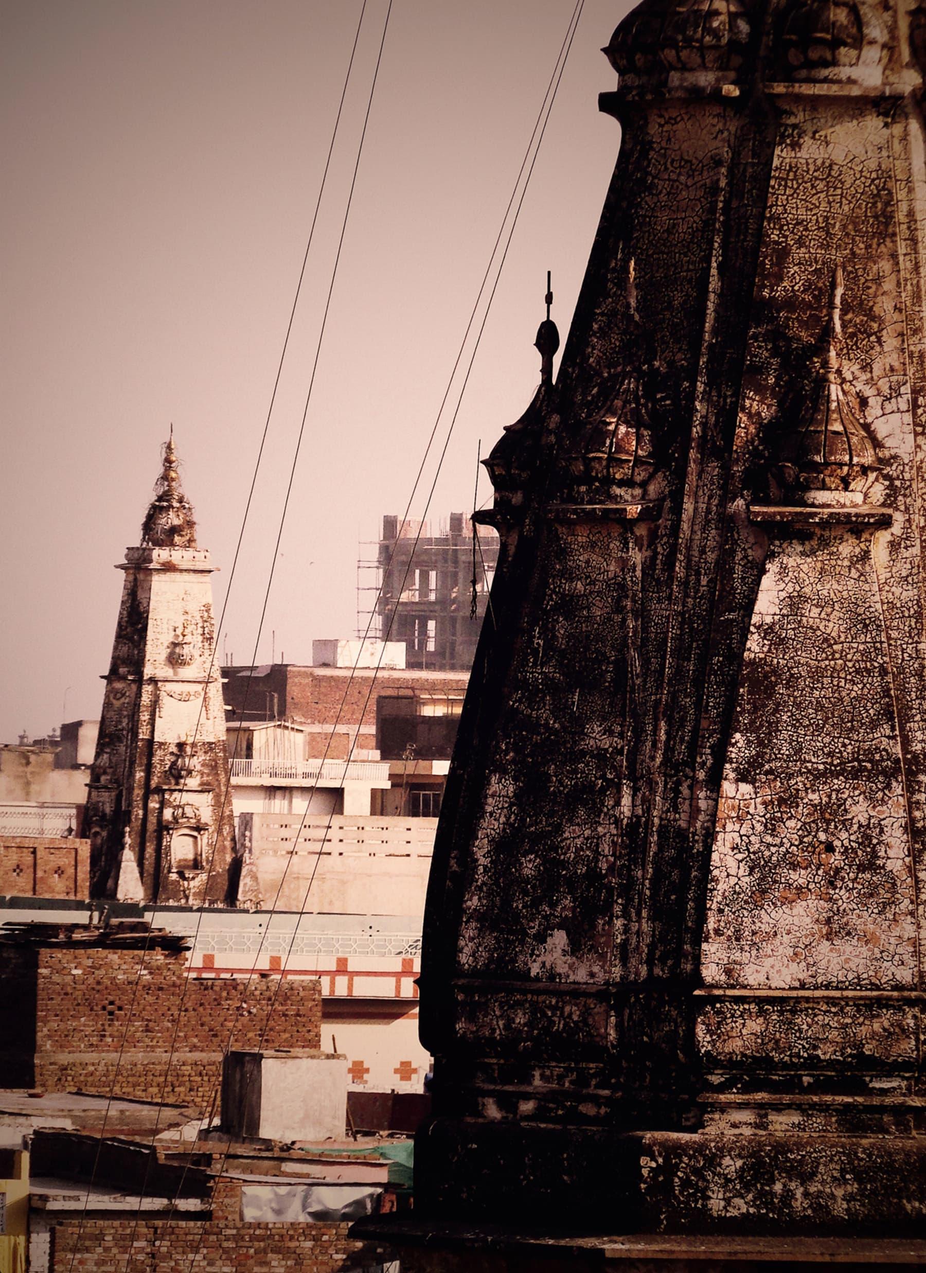 Mohan Mandir in the background with another mandir in front at Landa bazaar. —Sultan Ali
