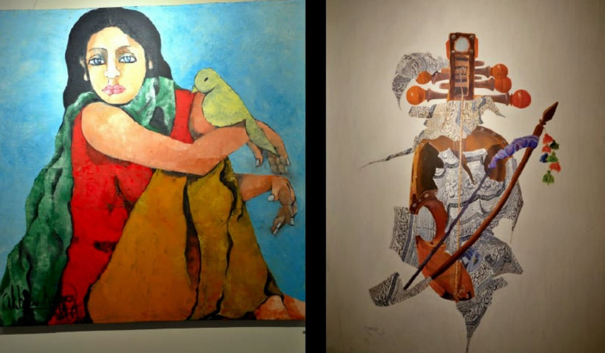 Displayed works by the artists at Gallery 6 — Photos by Ishaque Chaudhry