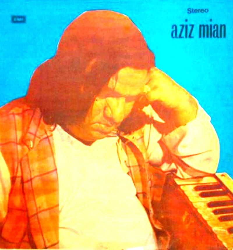 Cover of Aziz Mian's breakthrough album, 'Mein Sharaabi' (1973)