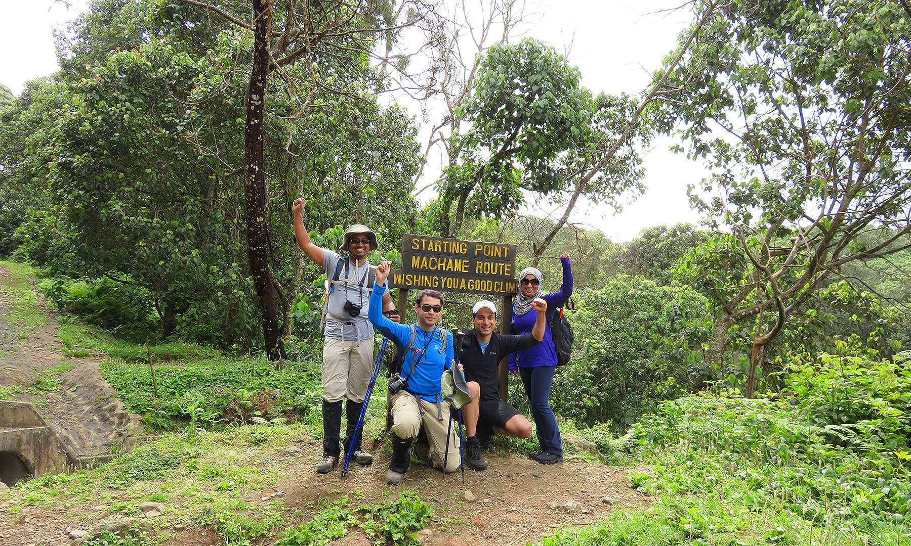 Angik, Sandipan, Abdullah and I at the start of the adventure.