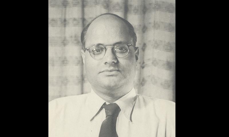 ن م راشد کی 1952 میں لی گئی تصویر۔ — تصویر از خاطر غزنوی۔ حوالہ: nmrashed.blogspot.ca