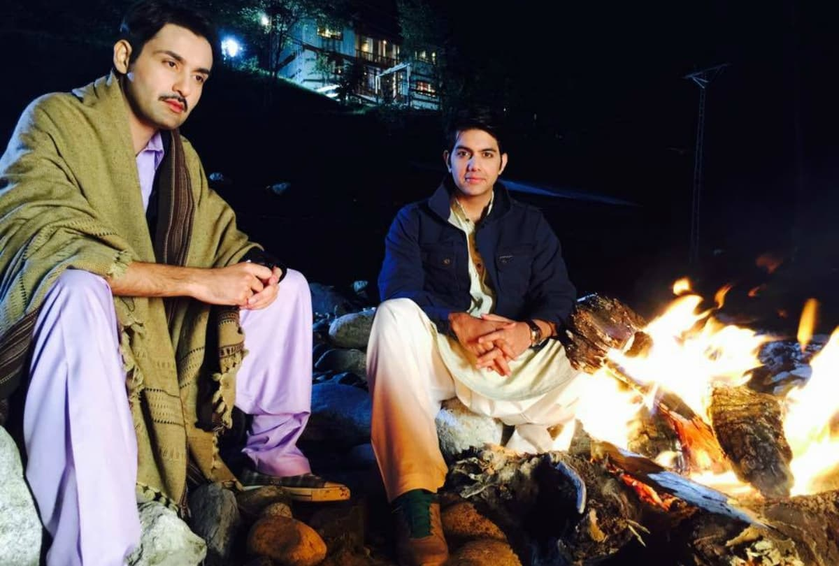 A BTS shot of the shoot in Kashmir - Publicity photo