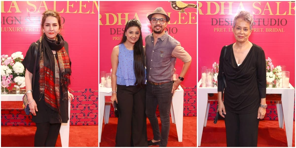 Wardha's fellow designers Faiza Samee, Nomi Ansari and Maheen Khan attended the store launch to show their support