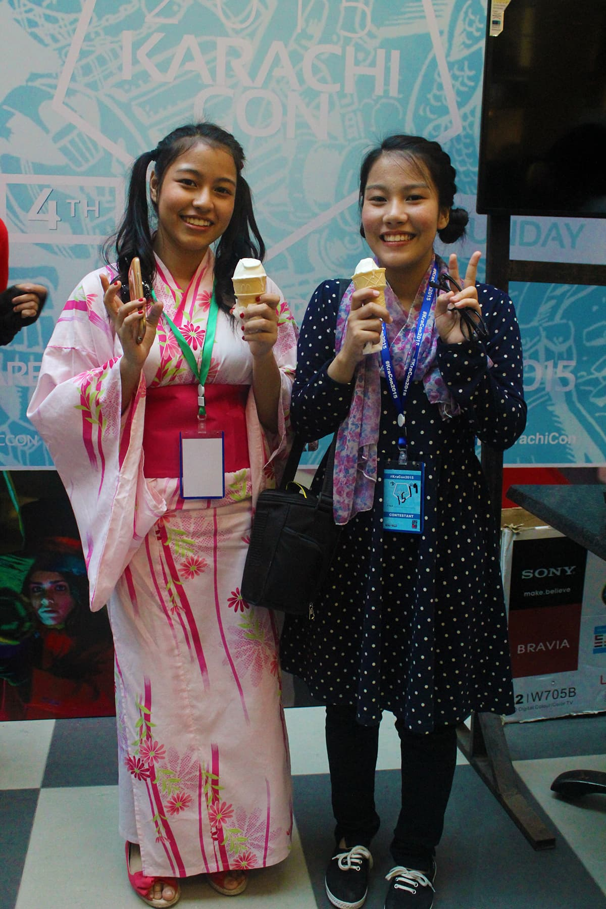 Mew Ichigo (left) from Tokyo Mew Mew. — Photo: Azmeena Alidina