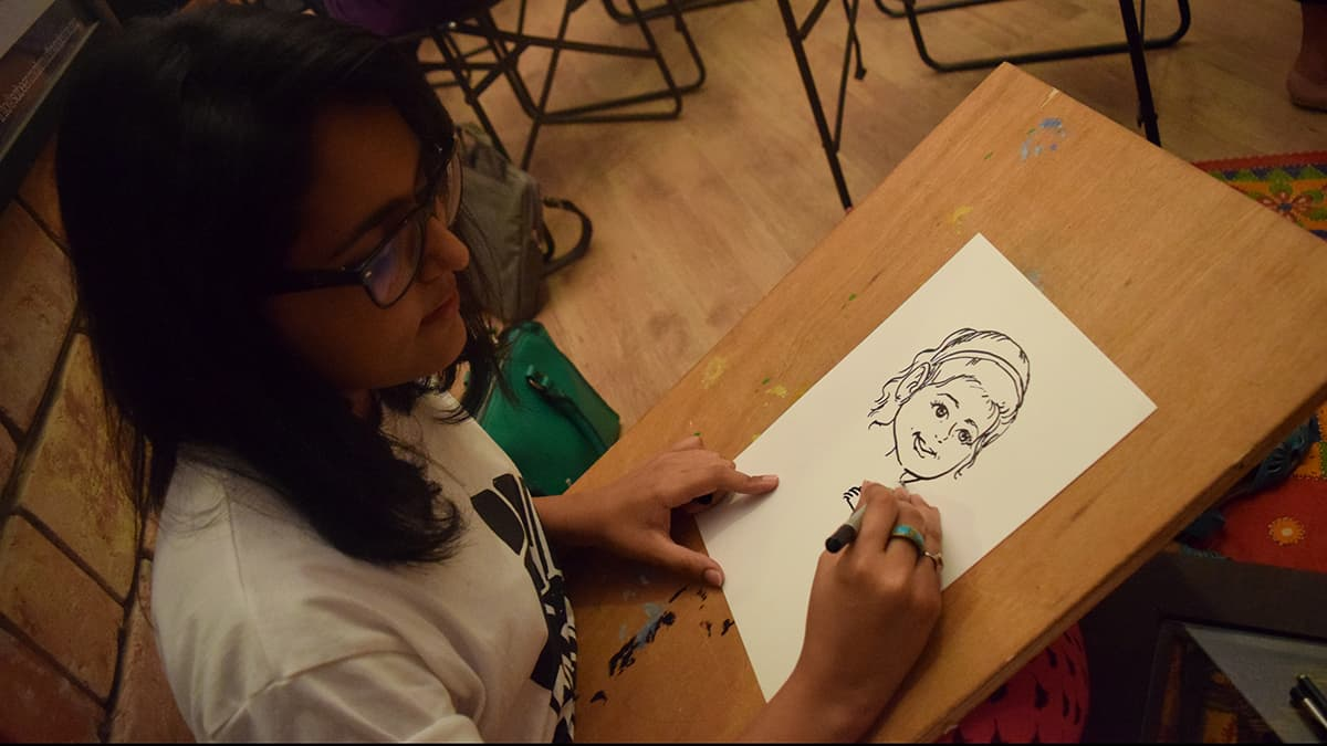 Caricature drawing was quite popular among young people. — Photo by author