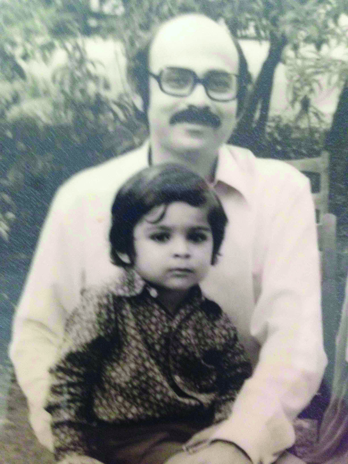 Mohsin Hamid as a child, with his father in Lahore, 1974   Courtesy Mohsin Hamid