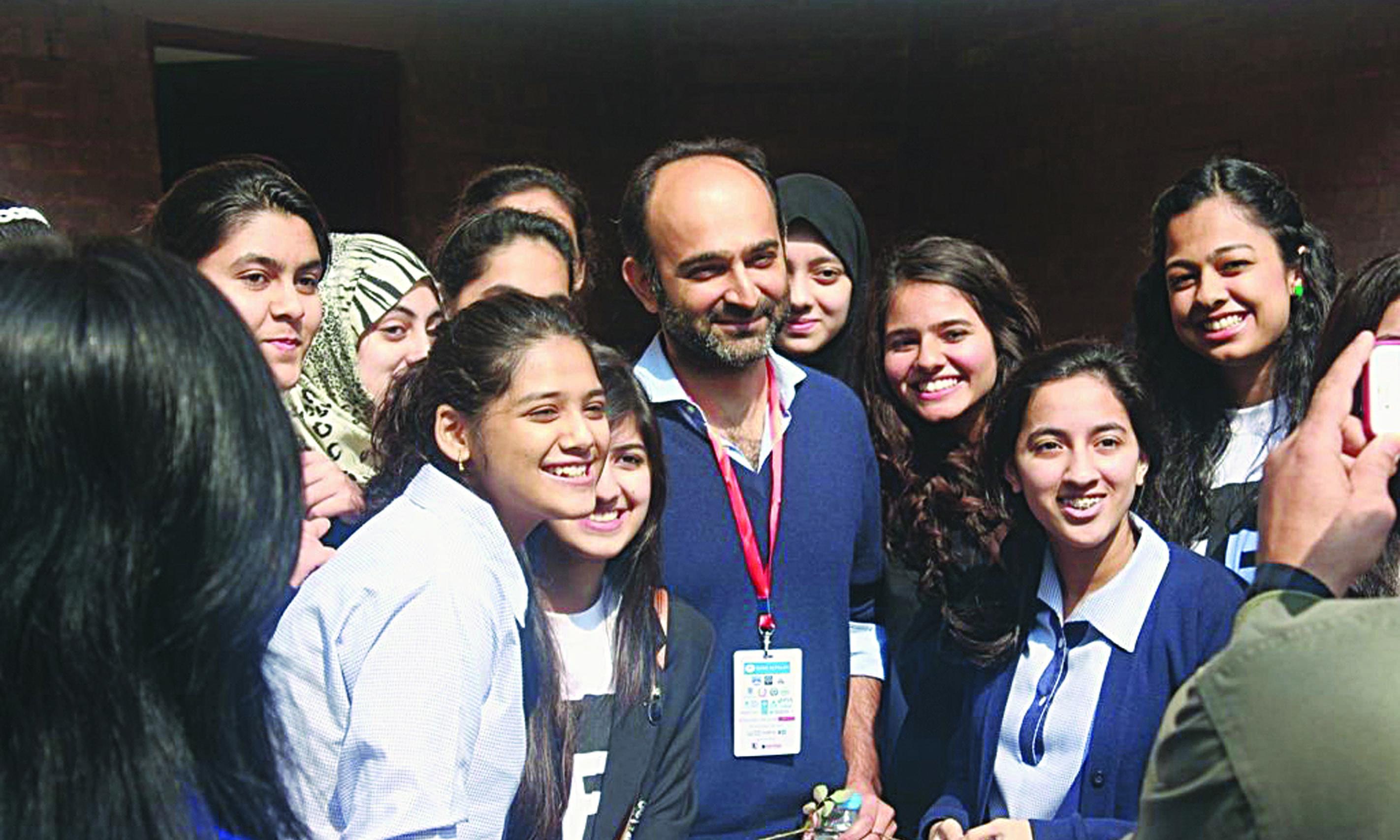 At the Lahore Literary Festival in 2014 |Courtesy Mohsin Hamid
