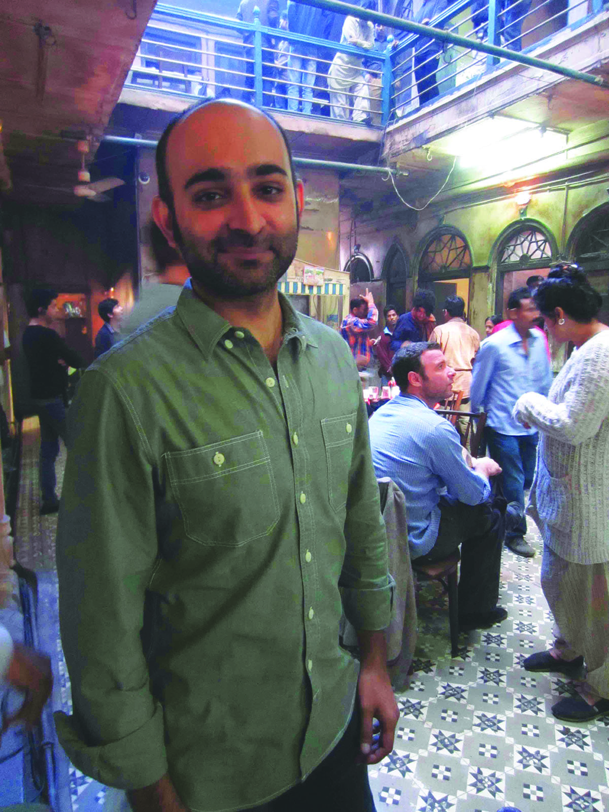 On the film set of The Reluctant Fundamentalist in Delhi, 2011 |Courtesy Mohsin Hamid