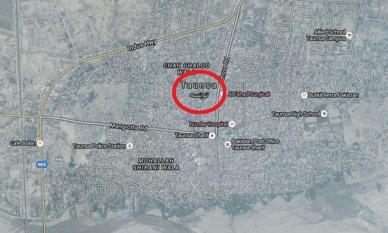 Map show the location of the area where the attack took place. — Courtesy google maps