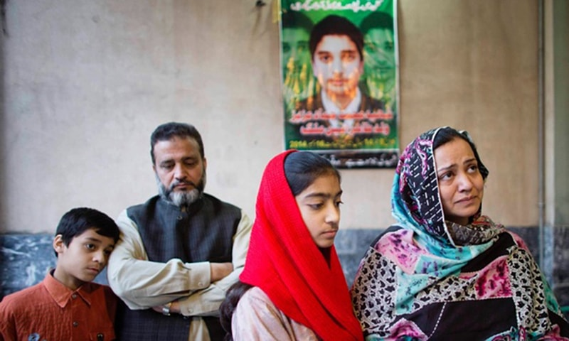 Taheer and Irum Aneez Malik, pictured here with their 12-year-old daughter Kashuf and 10-year-old nephew Hashir, mourn the loss of their 14-year-old son Hammad who was shot dead at school. — Photo courtesy: The Guardian