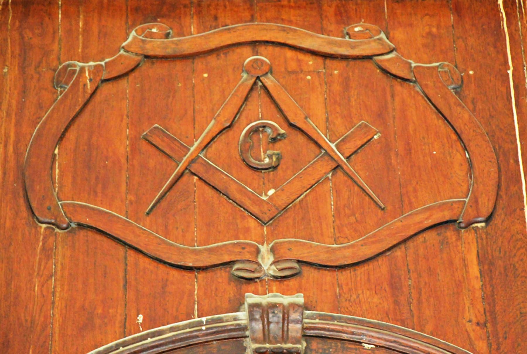 Freemasons Lodge still retains its iconic freemasonry symbols.