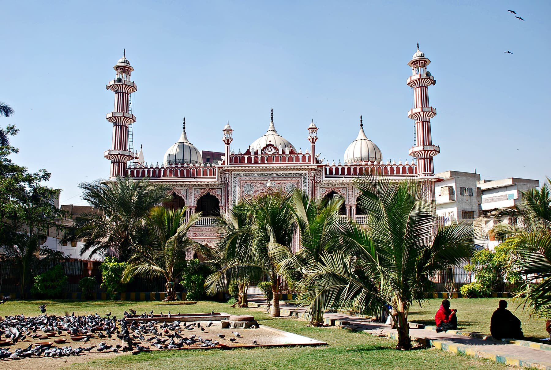 The area was filled with temples once, but now the only visible landmark in Aram Bagh is a mosque.