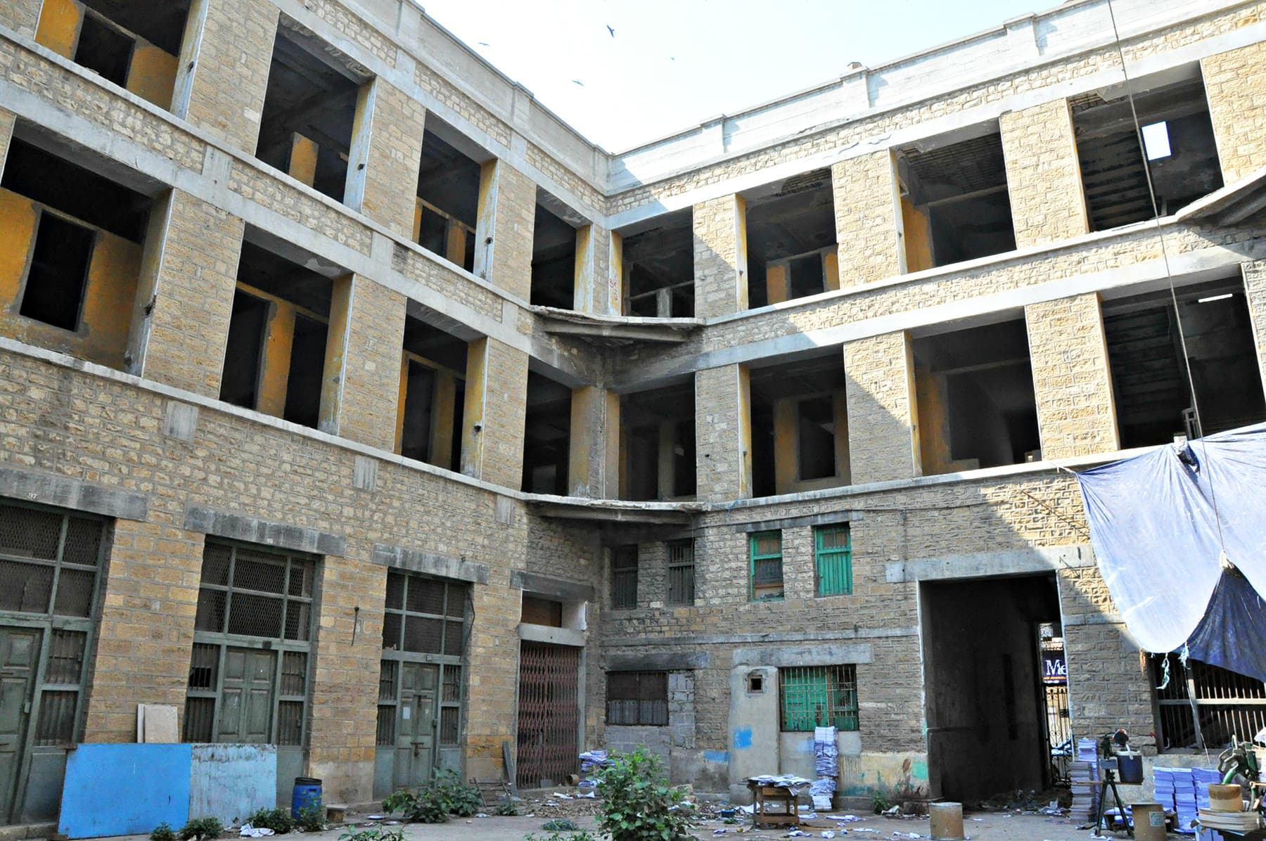 The hostel, which played such an important role in the lives of yesteryear generations, lies abandoned today.