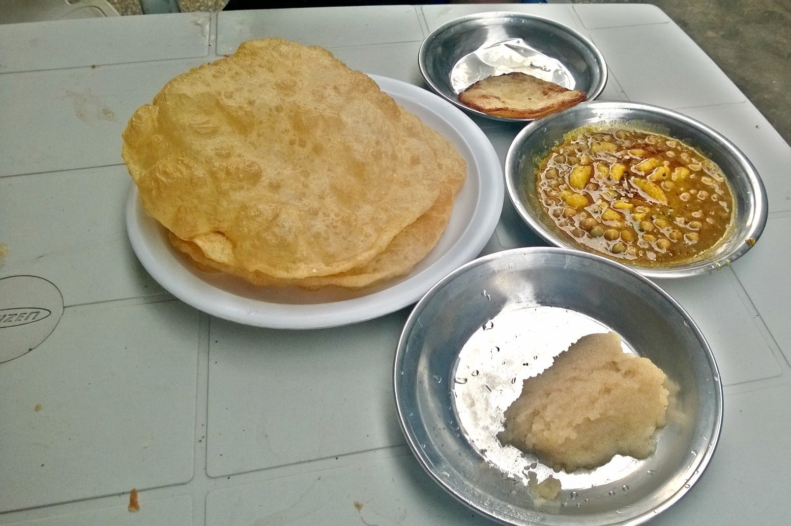The halwa puri at Butt Sweets was a good meal on the whole