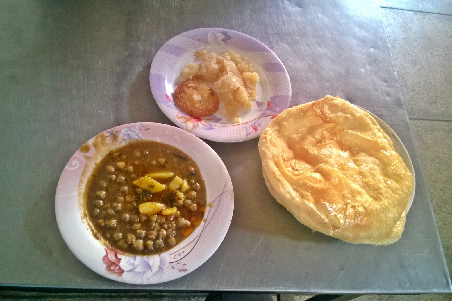 This halwa puri is a treat!
