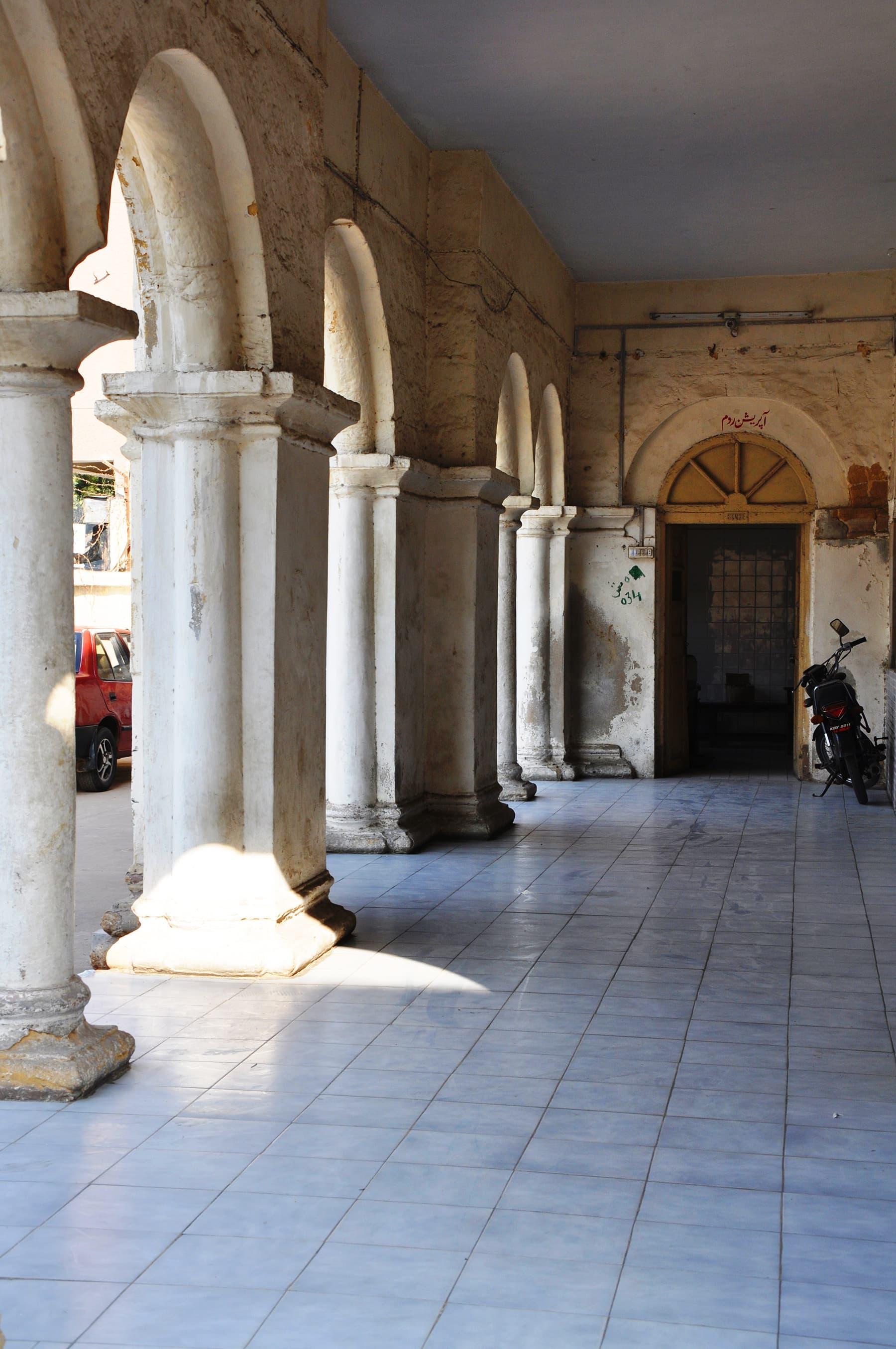 A corridor at the hospital.