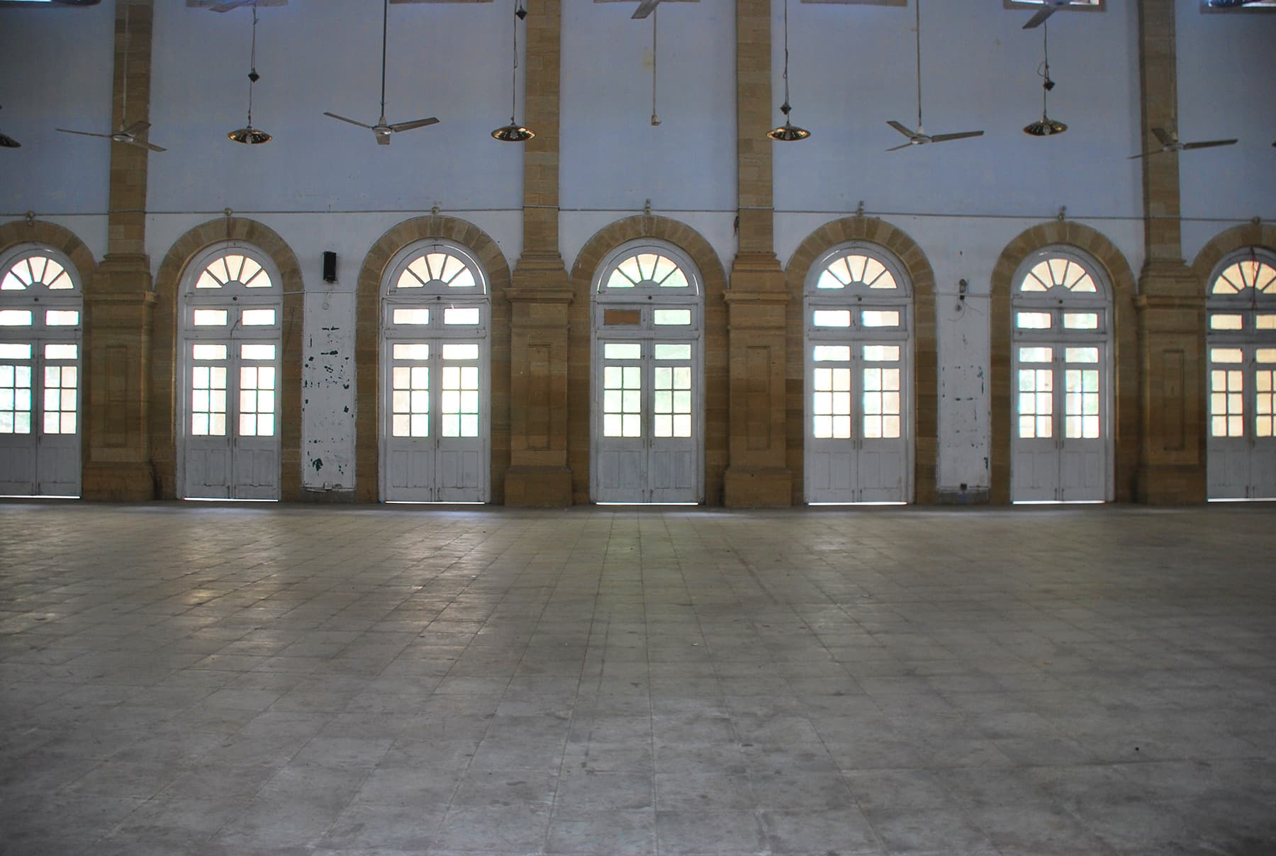 The inside hall is used for holding community events.
