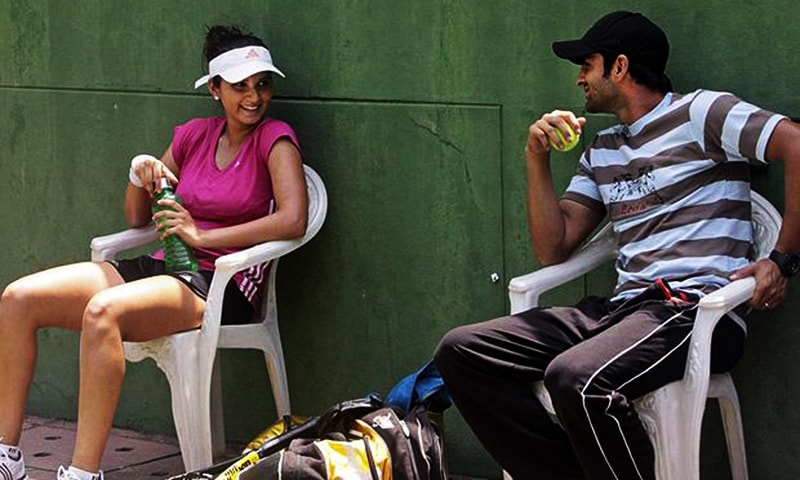 """""""Naturally when Sania wins in tennis, it motivates me a lot and inspires me to do well in cricket,"""" says Malik. — AP/File"""