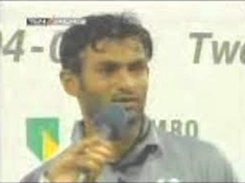 Malik accusing the umpires of cheating in the explosive post-match interview.