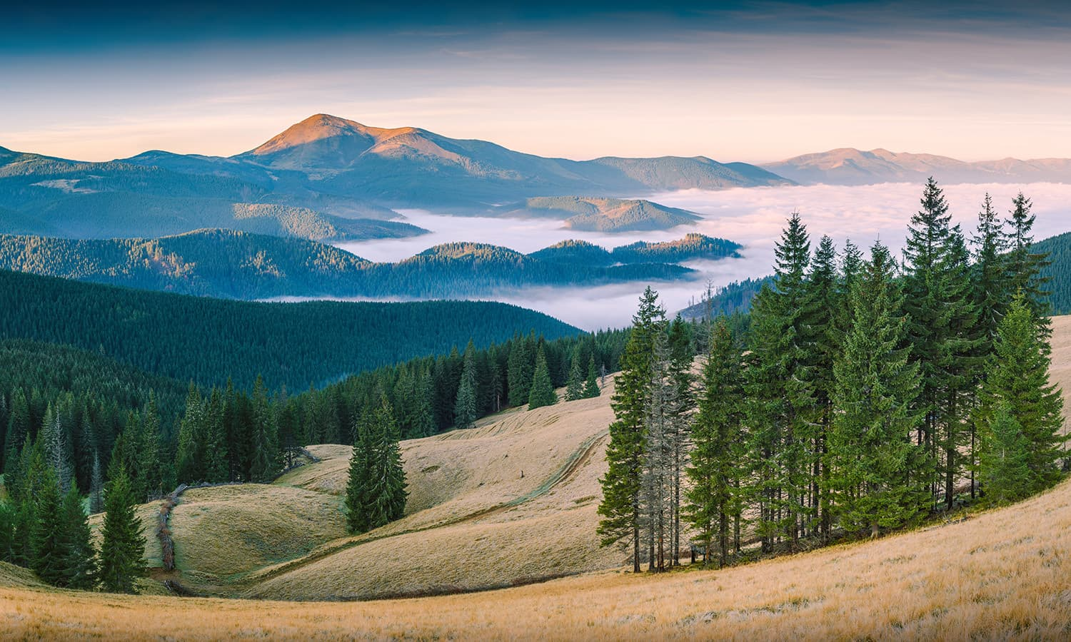 Sixth place: Carpathian Biosphere Reserve, Zakarpattia Oblast, Ukraine. — Photo by Vian and retouched by Iifar