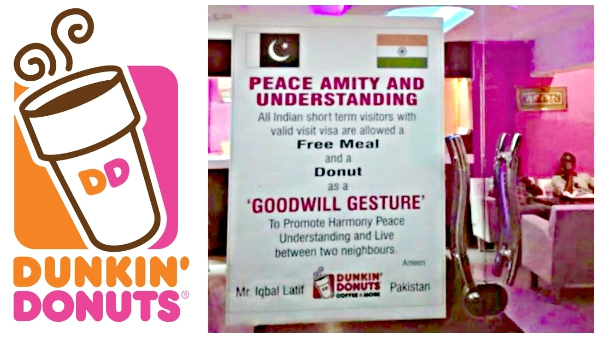 With message to Shiv Sena, Dunkin Donuts Pakistan extends olive branch to India