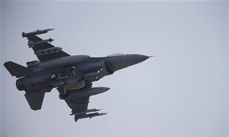 The $100 million jet sustained significant damage which forced it to jettison its fuel tanks and munitions before returning to base, officials said. — AFP/File