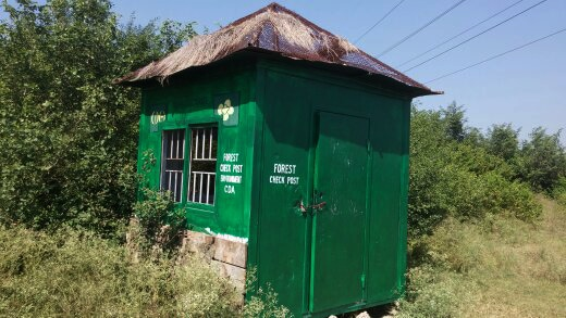 A locked CDA forest department check post. — Photo by author