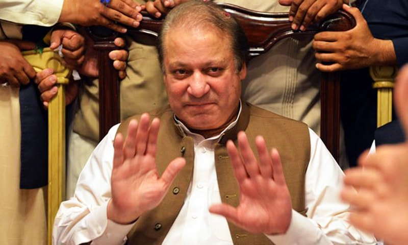 According to the survey carried out by Pildat, Nawaz Sharif remained ahead with an approval rating of 75 per cent and his brother at 72pc. —AFP/File