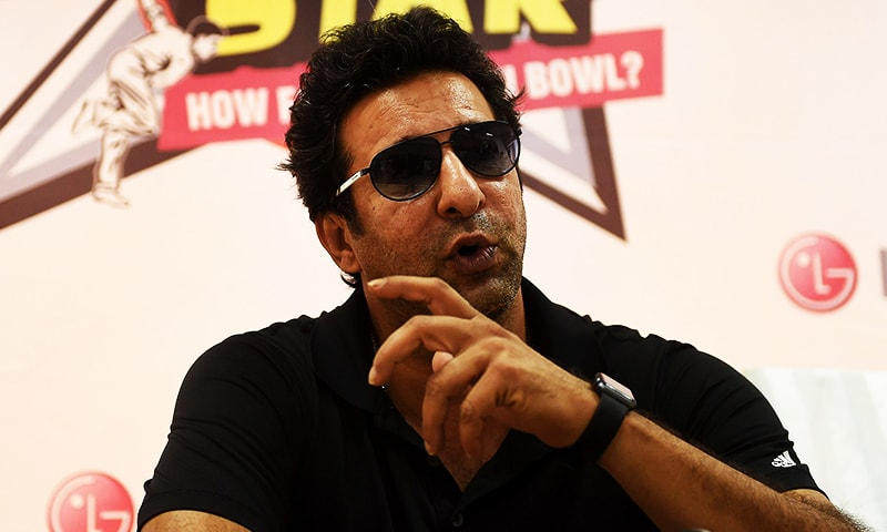 In this representative photo, Pakistan's cricket legend Wasim Akram speaks during a press briefing in Karachi on August 1, 2015. — AFP