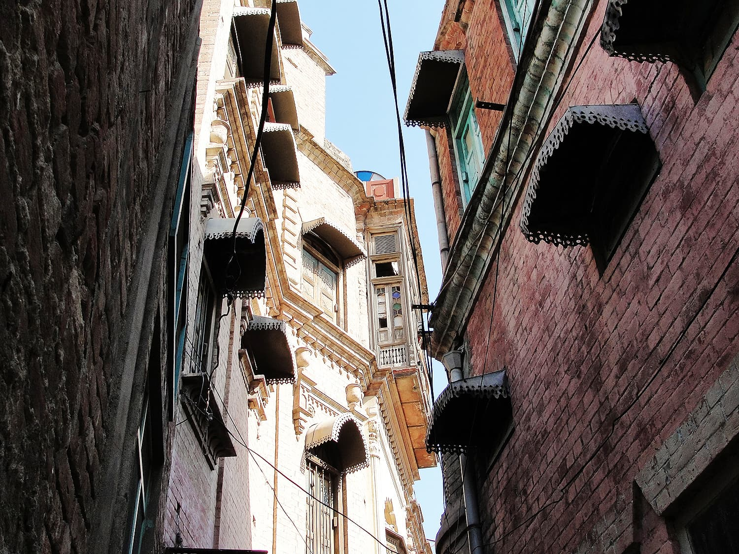 Windows of Hari Mandir and nearby haveli.