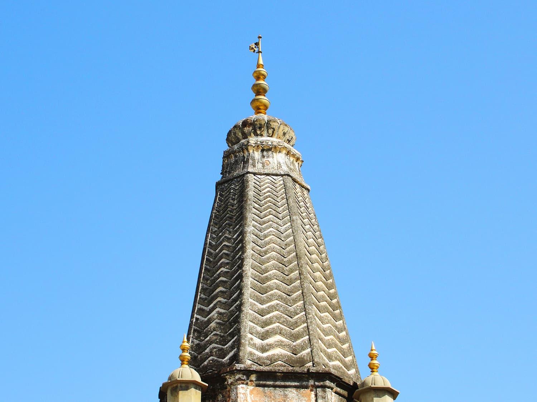 View of Shiva Temple's Shikara.