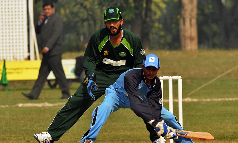 In this photo, Indian batsman plays a shot during a T20 match against Pakistan in Lahore on November 19, 2011. — AFP