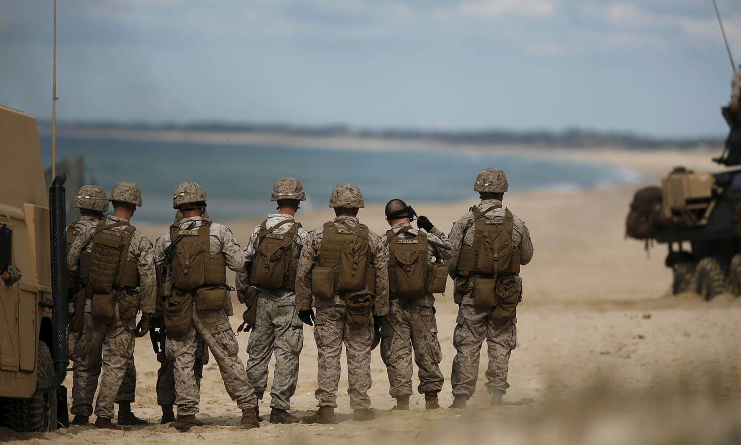 Nato soldiers attend a Nato military exercise at Raposa beach, near Setubal. NATO and its allies opened their largest military exercise in more than a decade on Monday, choosing the central Mediterranean to showcase strengths that face threats from Russia's growing military presence from the Baltics to Syria. — Reuters