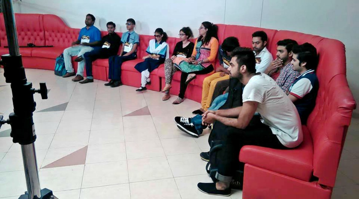 Contestants during the auditions of *Asia's Singing Superstar*