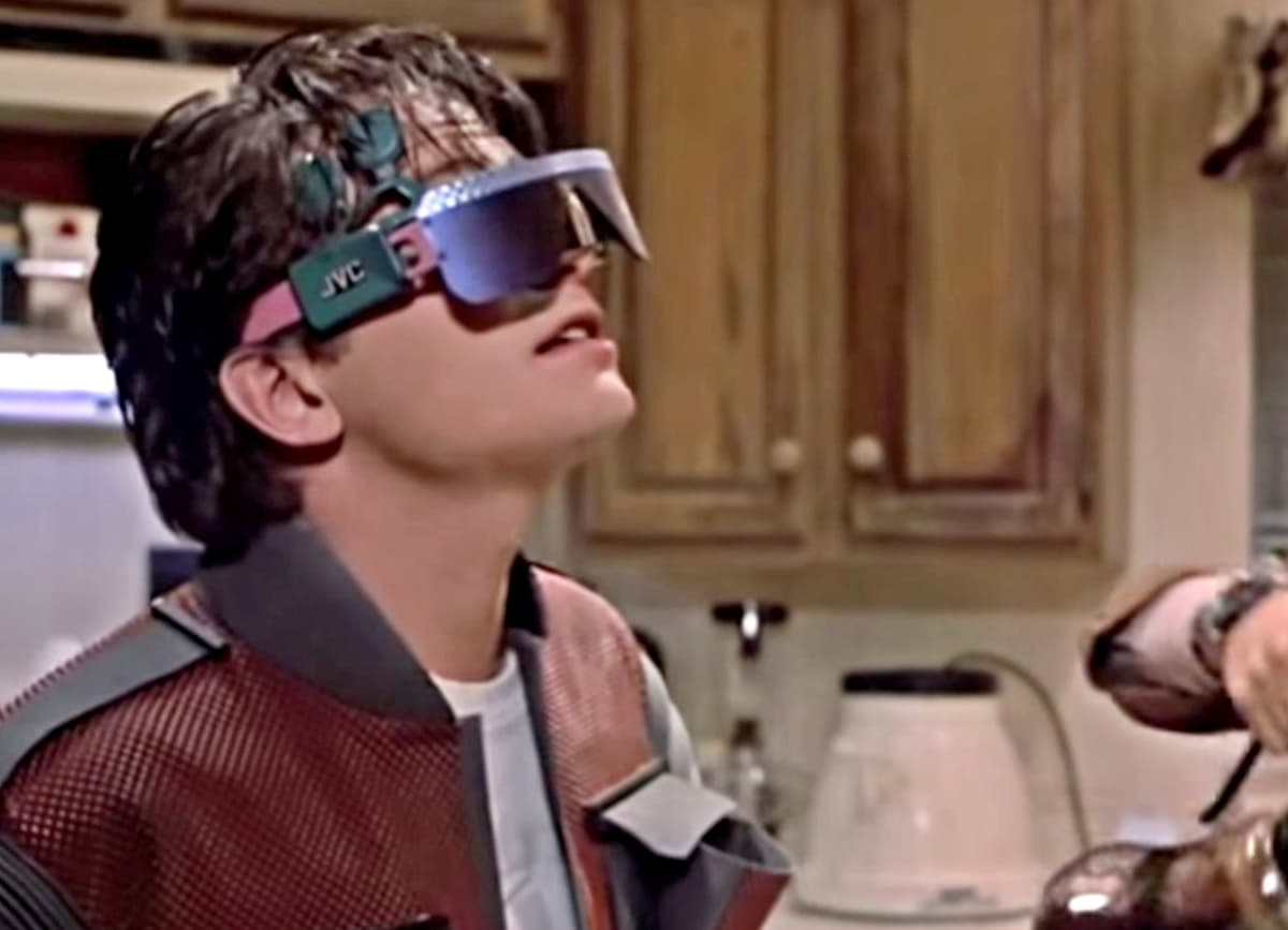 Video glasses was the Gameboy for *Back to the Future* 2015 kids